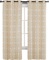 Asstd National Brand Maddox Faux Silk Printed Grommet-Top 2-Pack Curtain Panels