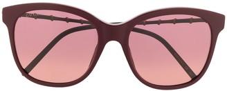 Gucci Bamboo-Effect Soft-Square Sunglasses