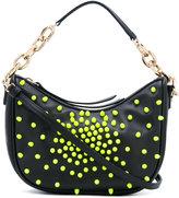 Borbonese embellished shoulder bag - women - Cotton/Leather - One Size