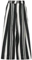 Kiltie cropped stripe trousers