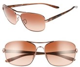 Oakley Women's Sanctuary 58Mm Sunglasses - Rose Gold/ Vr50 Brown