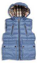 Burberry Little Girl's & Girl's Hooded Quilted Vest