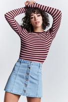 Forever 21 Button-Down Denim Skirt