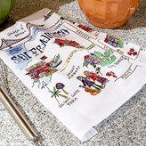 San Francisco Travel Map Towel Set of 2