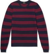 HUGO BOSS Striped Waffle-Knit Virgin Wool Sweater