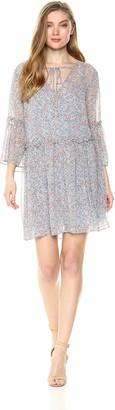 BCBGeneration Women's Confetti Floral Chiffon Dress