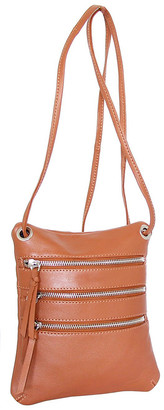 Nino Bossi Handbags Women's Handbags Cognac - Cognac Carolina Leather Crossbody Bag