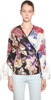 Print Patchwork Kimono Shirt