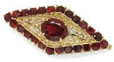 Tatitoto Gioie Women's Brooch in 18k Gold with Garnet, 14 Grams
