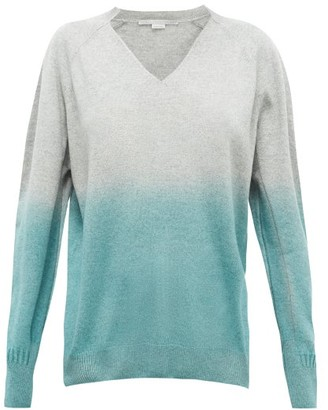 Stella McCartney Ombre Cashmere And Wool-blend Sweater - Womens - Grey Multi