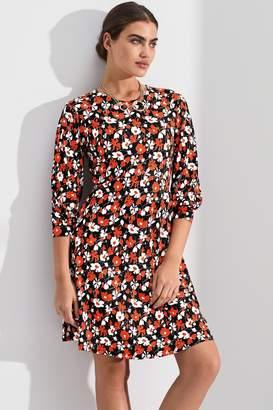 Next Womens Red Floral Print Mini Dress - Red