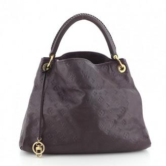Louis Vuitton Artsy Purple Leather Handbags