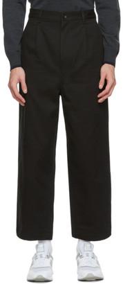 Comme des Garçons Homme Black Cotton Chino Trousers