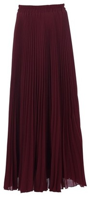Dorothy Perkins Womens *Jolie Moi Burgundy Crepe Pleated Maxi Skirt, Burgundy