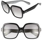 Kate Spade Women's 'Katels' 54Mm Sunglasses - Black/ Silver Glitter