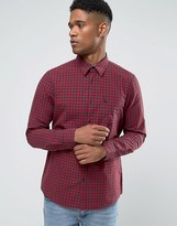 Jack Wills Poplin Shirt In Regular Fit In Gingham Navy/Red