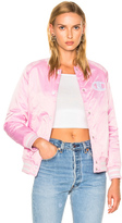 Champion Bomber Jacket in Pink.