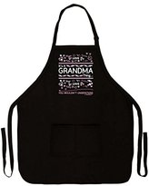 Mother's Day Gift It's a Grandma Thing You Wouldn't Understand Funny Apron for Kitchen BBQ Barbecue Cooking Baking Crafting Gardening Two Pocket Apron for Grandma or Mom Black