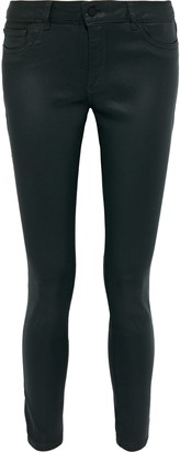 DL1961 Emma Coated Low-rise Skinny Jeans