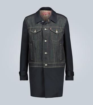 Junya Watanabe Longline cotton-linen denim jacket