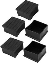 Dimart 5Pcs Rubber 60mmx60mm Chair Table Foot Square Cover Furniture Leg Caps