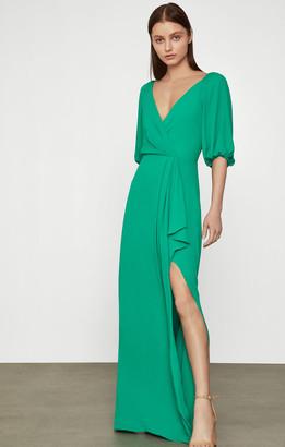 BCBGMAXAZRIA Bell Sleeve Gown