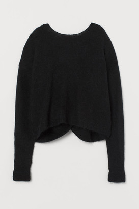 H&M Alpaca-blend Sweater - Black