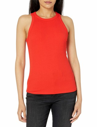 The Drop Women's Valerie Cutaway Neck Racerback Rib Knit Tank Top