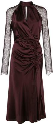 Jonathan Simkhai ruched lace-sleeves dress