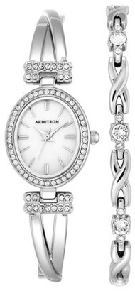 Armitron Women's Dress Oval Watch and Bracelet Set