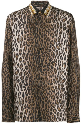 Versace Leopard Print Shirt