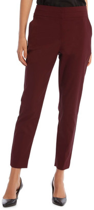 Basque Charlotte Cotton Sateen Ankle Grazer Pant