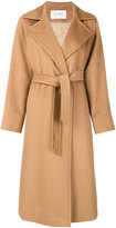 Max Mara drawstring coat - women - Viscose/Camel Hair - 44
