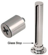 "CR Laurence CRL Polished Stainless 1/4"" Glass Stop"