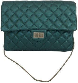Chanel 2.55 Turquoise Leather Clutch bags