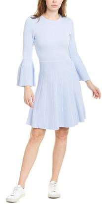 Eliza J Ribbed Panel A-Line Dress