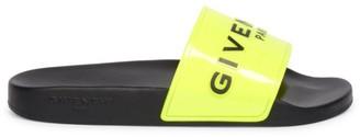 Givenchy Logo Neon Pool Slides