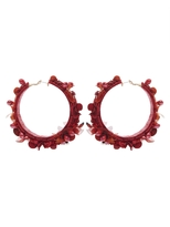Ranjana Khan Flower Hoop Earrings