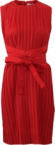Victoria Beckham VICTORIA BY V. BECKHAM Cross Strap Washed Taffeta Dress