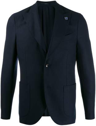 Lardini single-breasted fitted blazer