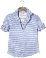 FRANK \u0026 EILEEN Womens Barry Stripe Anchor Shirt