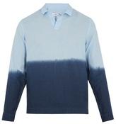 Orlebar Brown Ridley linen long-sleeved polo shirt
