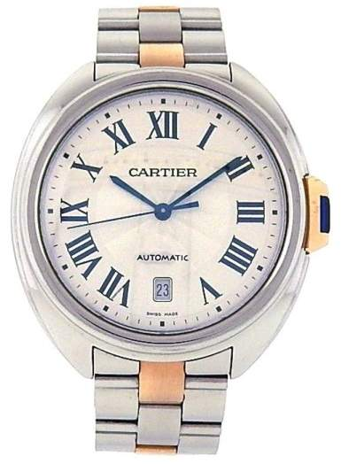 Cartier Cle de W2CL0002 18K Gold & Stainless Steel Automatic 40mm Mens Watch