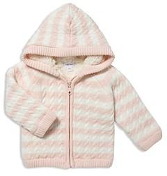 Angel Dear Girls' Striped Knit Sherpa Lined Jacket - Baby