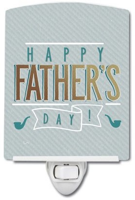 Caroline's Treasures Happy Father's Day Ceramic Night Light