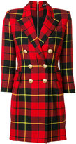 Balmain tartan blazer dress