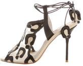 Sophia Webster Mesh Round-Toe Sandals