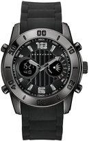 Sean John Men's Concord Black Silicone Strap Watch 47mm