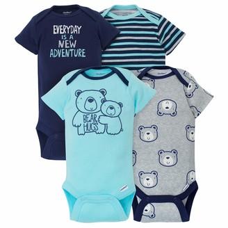 Gerber Baby Boy's 4-Pack Short-Sleeve Onesies Bodysuits Shirt