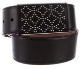 Alaia Embellished Leather Belt